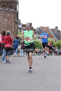 vlak voor finish Amerfoort